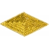 Beaded Motif Sequin Lazar Gold   Diamond Shape